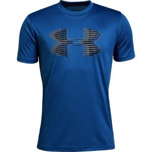 UA Boys Tech™ Big Logo Solid T-Shirt Blue by Podium 4 Sport