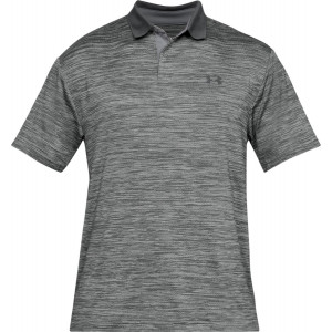 UA Men's Performance Polo Textured Grey by Podium 4 Sport