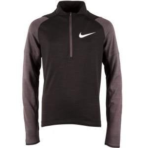 Nike Boys Dri-FIT Long-Sleeve 1/2-Zip Running Top Black by Podium 4 Sport