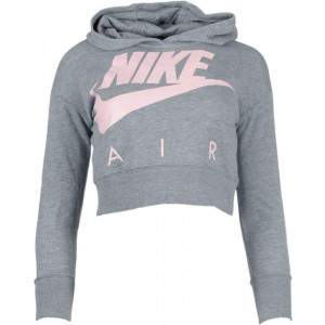 Nike Air Girls Cropped Hoodie Grey by Podium 4 Sport