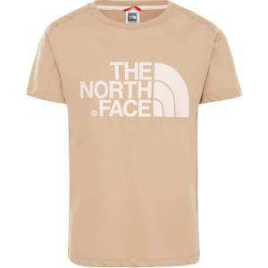 The North Face Girls Boyfriend T-Shirt Beige by Podium 4 Sport