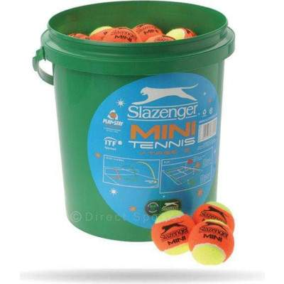 Slazenger Mini Tennis Ball Orange 5 Dozen Bucket by Podium 4 Sport
