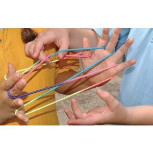 Coloured Cats Cradle Game Bands by Podium 4 Sport