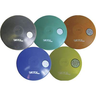 Coloured Rubber Discus by Podium 4 Sport