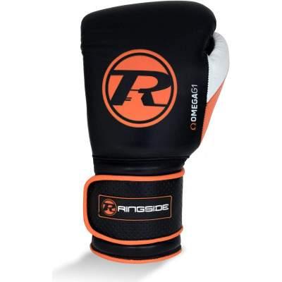 Ringside Omega G1 Strap Glove Black/Orange by Podium 4 Sport