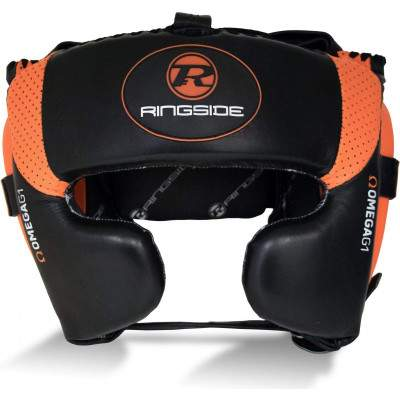 Ringside Omega G1 Ultra Headguard Black/Orange by Podium 4 Sport