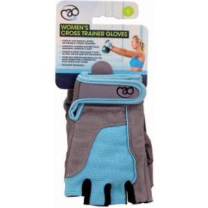 Fitness Mad Womens Cross Training Gloves Blue by Podium 4 Sport