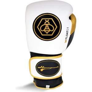 Ringside Honey Punch Float G1 Series Pro Spar Glove White/Gold by Podium 4 Sport