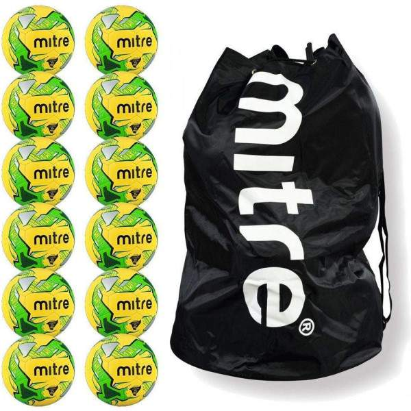 Bulk Buys Mitre Impel Size 5 with free carrier by Podium 4 Sport