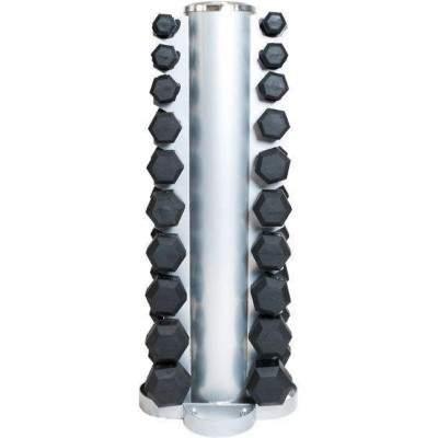 NXG Vertical Dumbbell Rack with Hex Dumbbells (1-10kg) by Podium 4 Sport