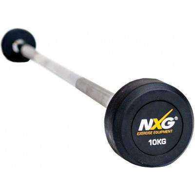 NXG Rubber Barbell 10kg by Podium 4 Sport
