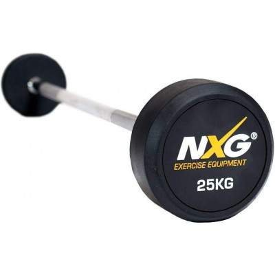 NXG Rubber Barbell 25kg by Podium 4 Sport