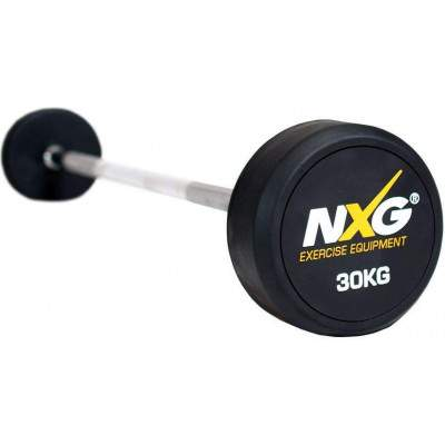 NXG Rubber Barbell 30kg by Podium 4 Sport