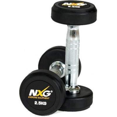 NXG Rubber Dumbbell Pair 2.5kg by Podium 4 Sport