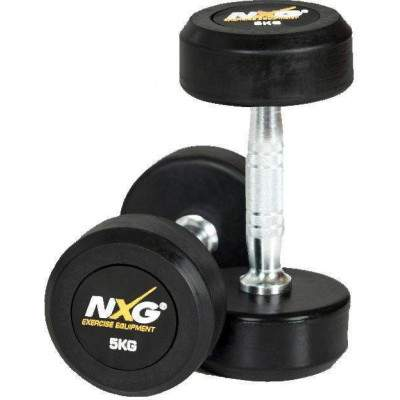 NXG Rubber Dumbbell Pair 5kg by Podium 4 Sport