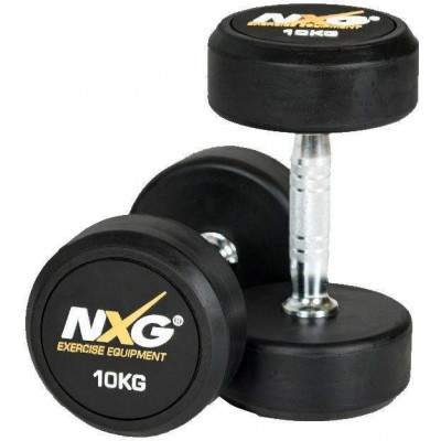 NXG Rubber Dumbbell Pair 10kg by Podium 4 Sport