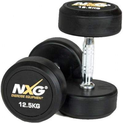 NXG Rubber Dumbbell Pair 12.5kg by Podium 4 Sport