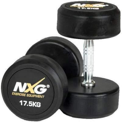 NXG Rubber Dumbbell Pair 17.5kg by Podium 4 Sport
