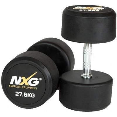 NXG Rubber Dumbbell Pair 27.5kg by Podium 4 Sport