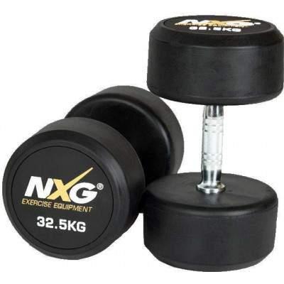 NXG Rubber Dumbbell Pair 32.5kg by Podium 4 Sport