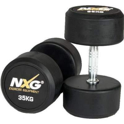 NXG Rubber Dumbbell Pair 35kg by Podium 4 Sport