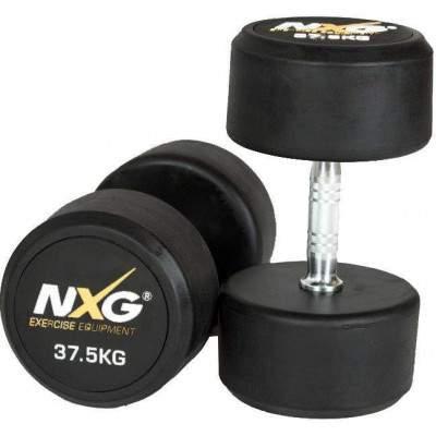 NXG Rubber Dumbbell Pair 37.5kg by Podium 4 Sport