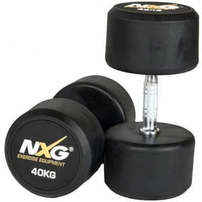 NXG Rubber Dumbbell Pair 40kg by Podium 4 Sport