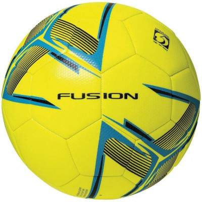 Precision Fusion Training Ball Fluo Yellow/Cyan Blue/Black Size 5 by Podium 4 Sport