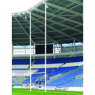 Harrod Aluminium Rugby Posts Hinged by Podium 4 Sport
