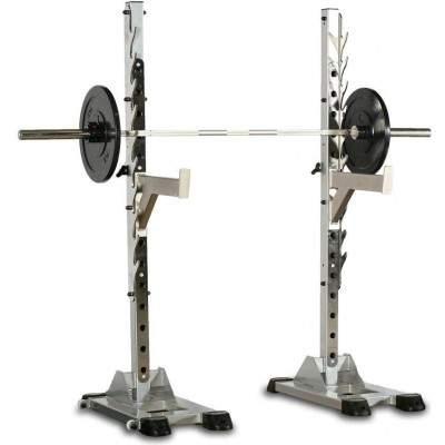 Indigo Fitness Black Series Squat Stands (Pair) by Podium 4 Sport